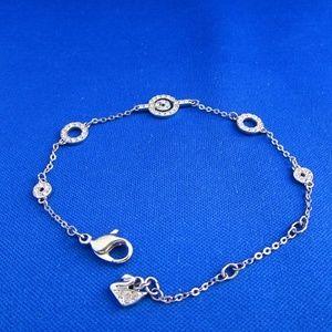 crystal circle link & chain bracelet